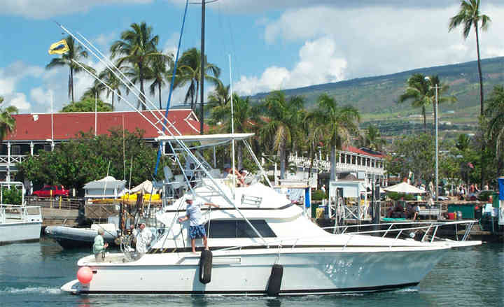 Sportfishing Yacht at Lahaina Harbor, Maui